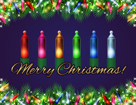 クリスマスの電球素材