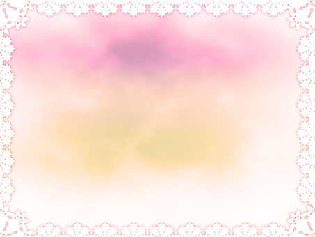 Lace rainbow color frame 3