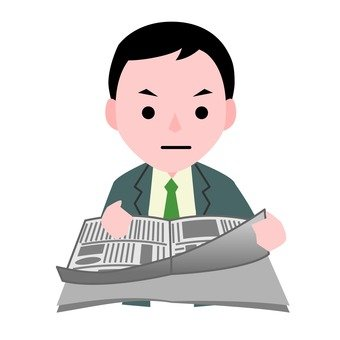 Businessman and newspaper