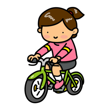 Illustration of a girl on a bicycle