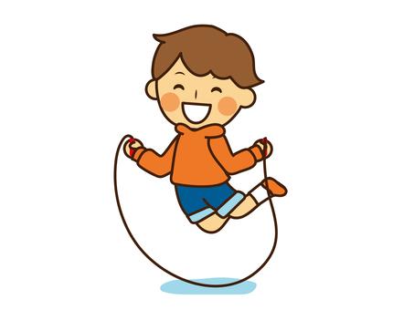 Children skipping joyfully skipping