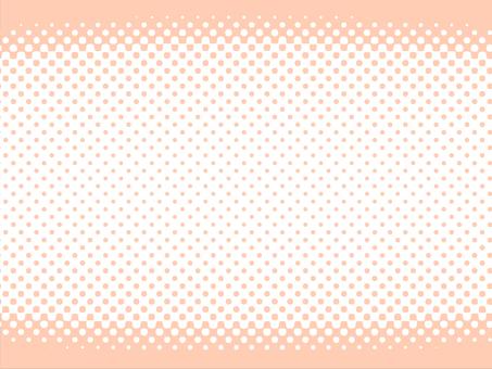 中央ドット 背景(オレンジ)