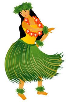 Hula Dance Hula Girl 016