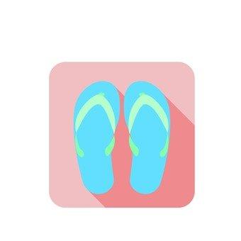 Beach sandal icon