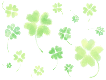 Watercolor-like four leaf clover