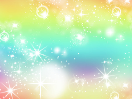 Background Starry Sky Rainbow 3