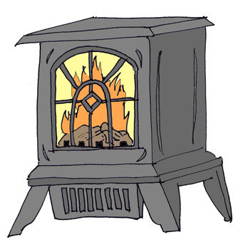 Fireplace type stove