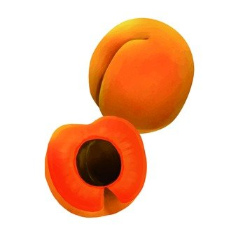 Apricot, cut