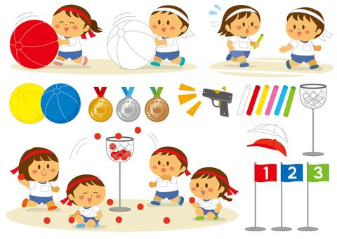 運動会の子供達1