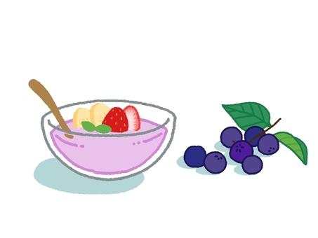 마키베리 과일 요구르트