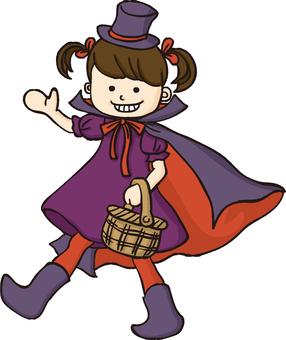 Halloween girl (no pumpkin)