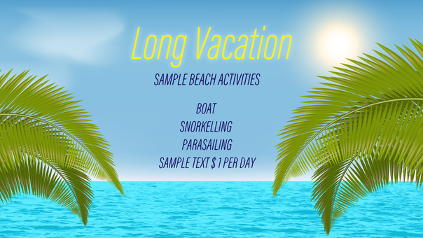 Vacation 16: 9 Template