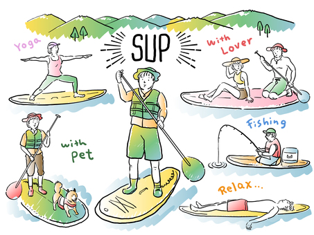 Stand up paddle boat_Color version