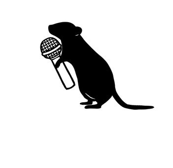 Mouse black with microphone