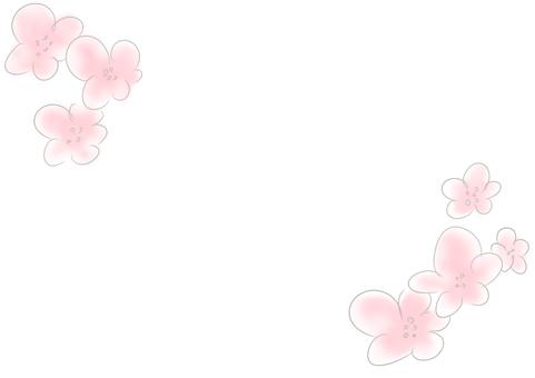 밝은 꽃 테두리