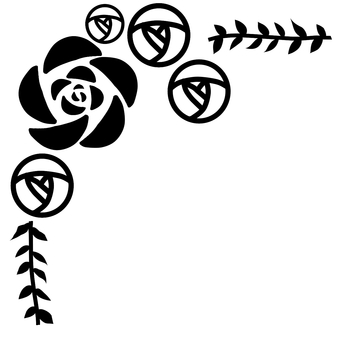 Rose silhouette frame