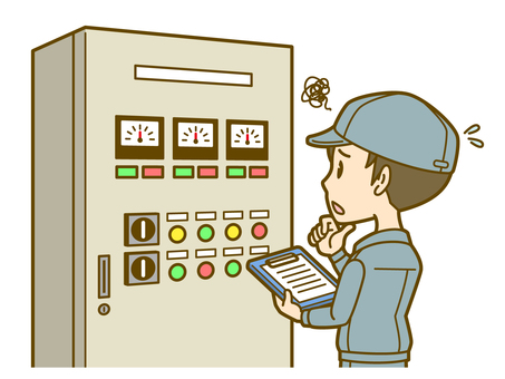 Worker (male): Control panel 02