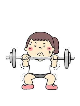 Physical Education Girl (Weight Lifting)