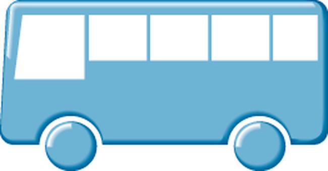 Bus icon blue