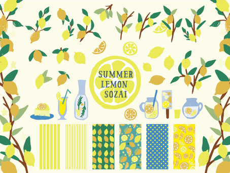 Summer lemon material