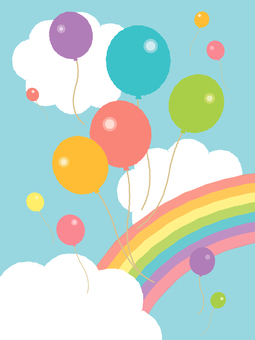 Balloons and rainbows
