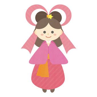 七夕織姫の可愛いイラスト