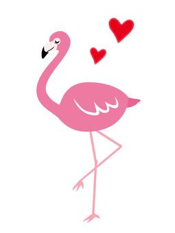 Flamingo & Heart