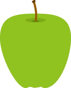Food series fruit green apple