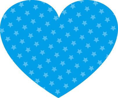 Star Pattern Heart (Blue)
