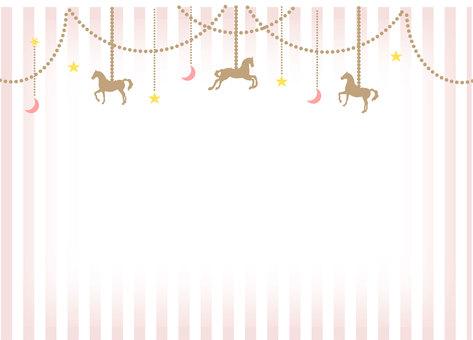 Merry-go-round frame pink