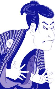 The third generation Otani Emiko next man Edo Kyubei _ purple