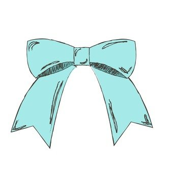 Light blue ribbon