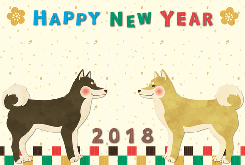2018 New Year card material 2