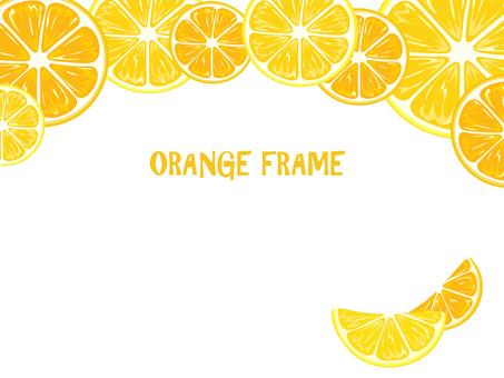 오렌지 프레임 가로 1