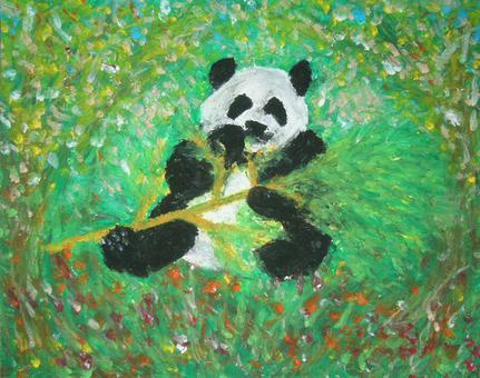 Flower forest panda