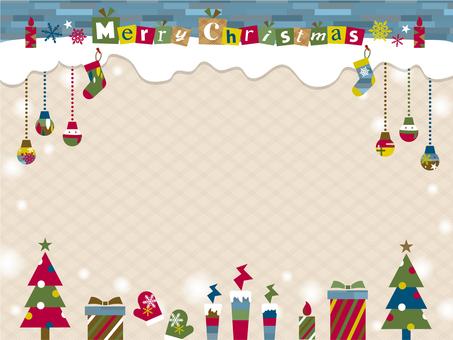 Christmas motif frame _B02