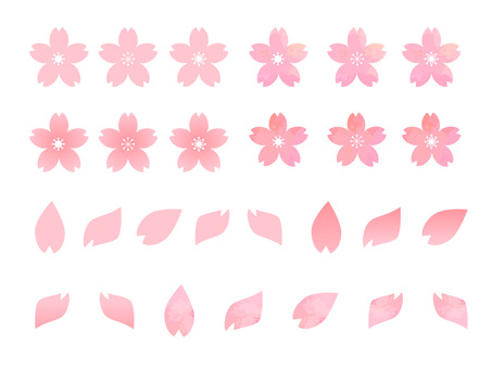 Cherry blossom / petal material parts set