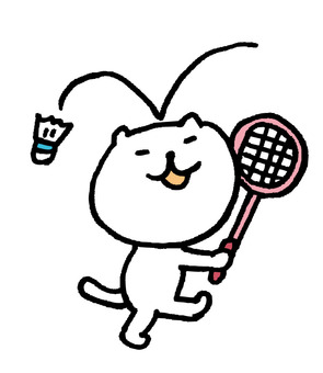 Cat badminton