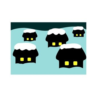 Winter house icon 1