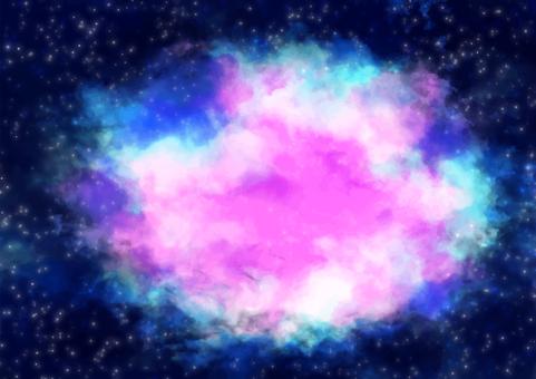 Mysterious starry sky frame