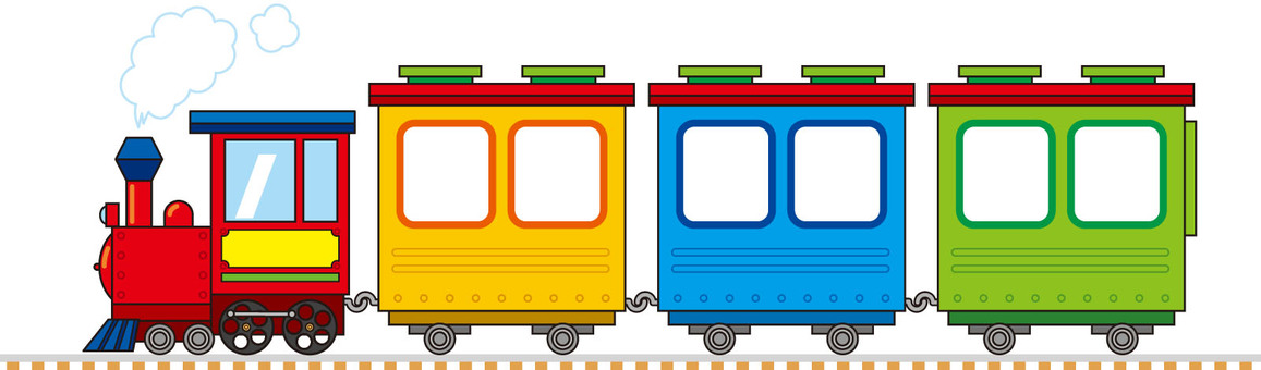 SL locomotive colorful illustration