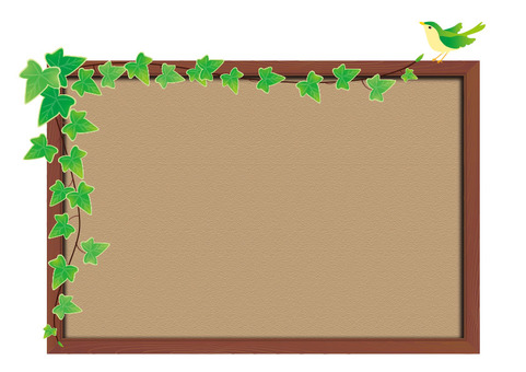 Cork board - Ivy and bird