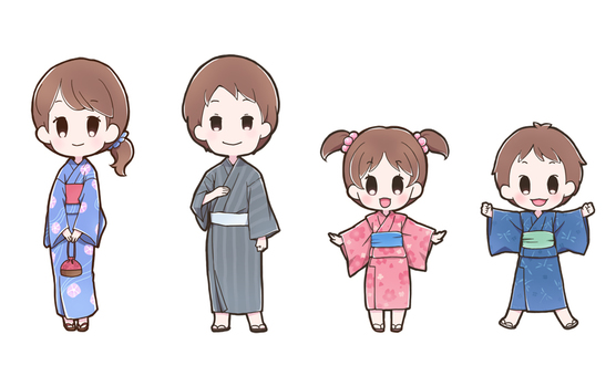 Yukata character set_A