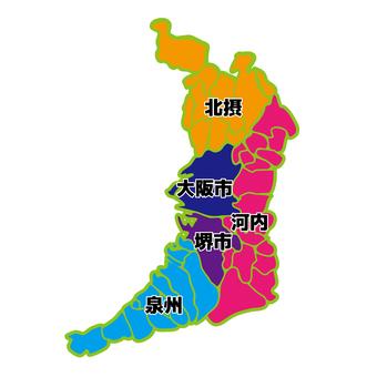 Japan Map Osaka 02