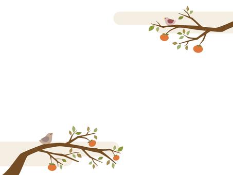 감나무의 일러스트