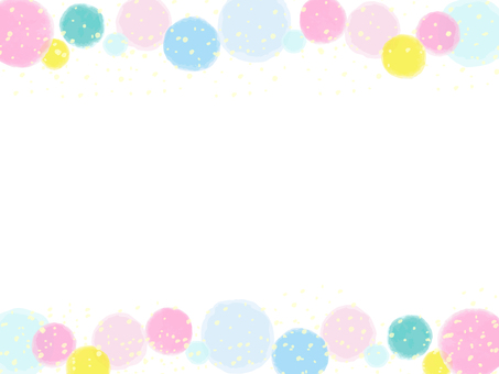 Watercolor style dot background material