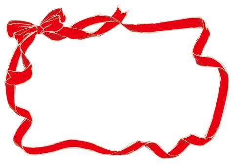 Red ribbon frame 3