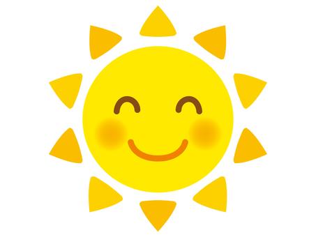 Illustration of the smiling sun 1 (yellow)