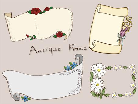 Antique flower frame