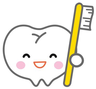 치약을 가진 치아